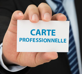 carte professionnel